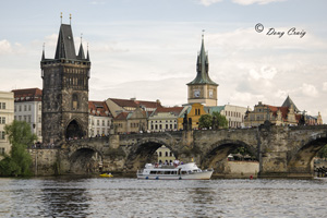Cruising  			     Vltava At Charles Bridge