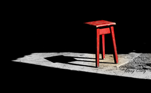 Red Stool And Shadow