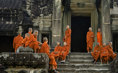 Novices At Angkor Wat
